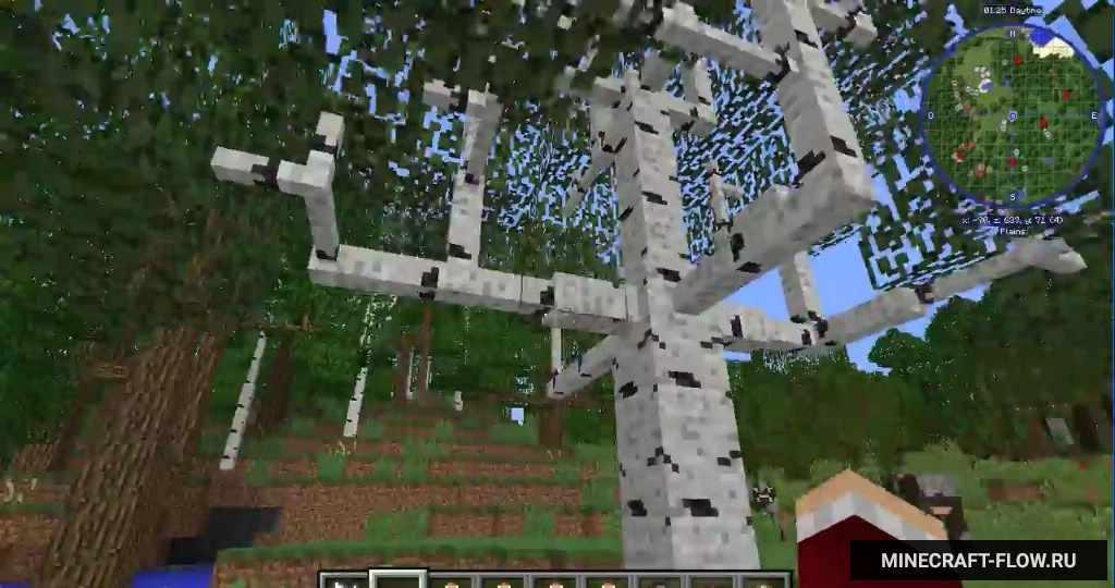 большие деревья мод 1.8.0 майнкрафт #2
